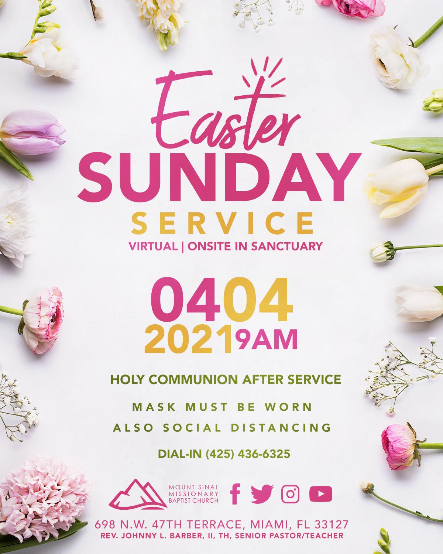 Mt. Sinai Easter Flyer