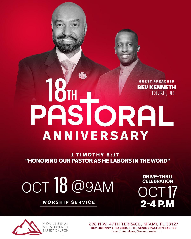 Pastor Anniversary photo