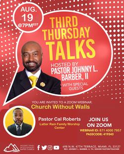 Third Thursday Talks - August Official Flyer 2