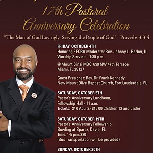 17th Annual Pastor Appreciation