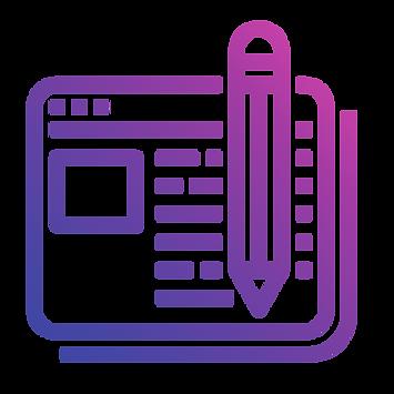 evie studios content marketing blog website browser article writing pencil document