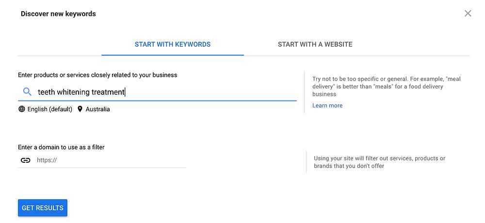 google ad words discover new keywords Evie Studios