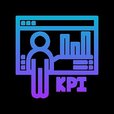 evie studios kpi key performance indicator website monitor person avatar