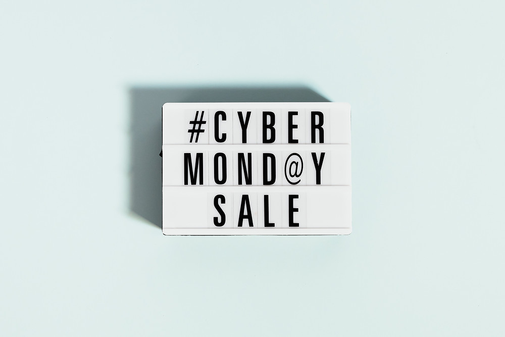 Cyber Monday Sale minimalism sign Evie Studios Digital Marketing Studio Agency