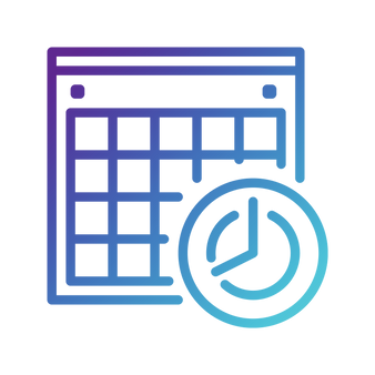 evie studios calendar clock watch schedule