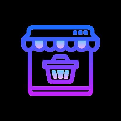 evie studios online shopping store front illustration basket window