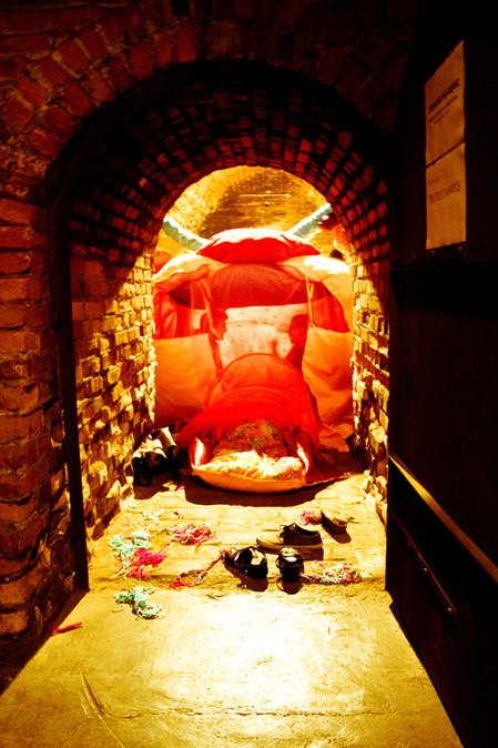 Exposição da escultura instalação ÚTERO FLORIDO