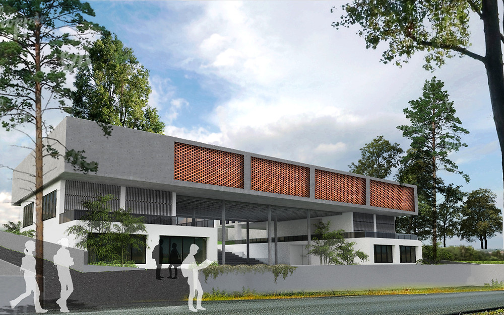 Exterior conceptual view of the college