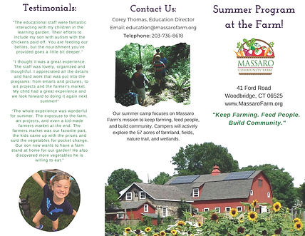 _Summer Camp at the Farm final brochure_
