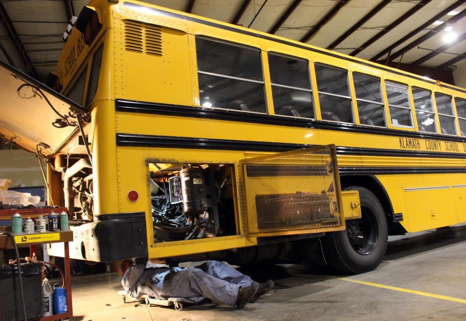 school bus repair  and how GPS helps