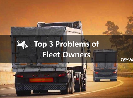 What are the Top 3 Problems faced by Vehicle Fleet Owners?