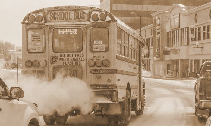 school bus emission