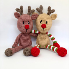 Couple of Crochet Reindeers