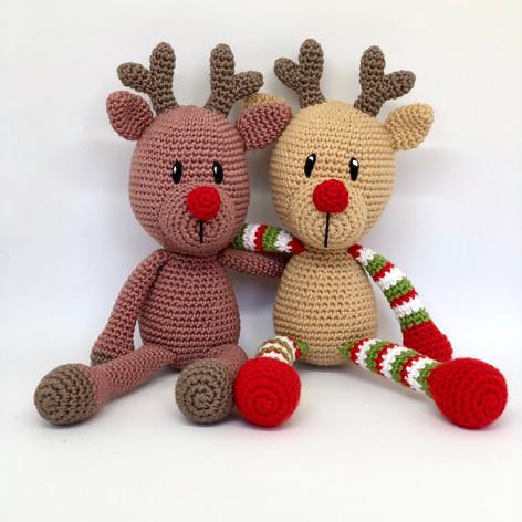 Couple of Crochet Reindeers