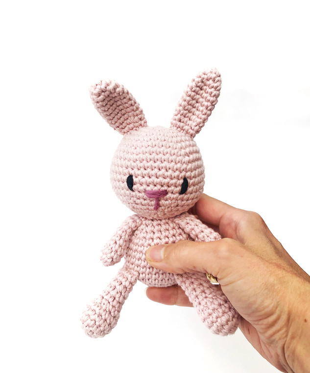 Round Bunny Soft pink
