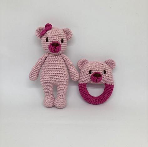 Teddy Bear and Rattle