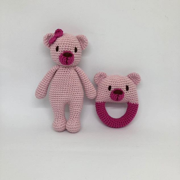 Teddy Bear and Rattle Set