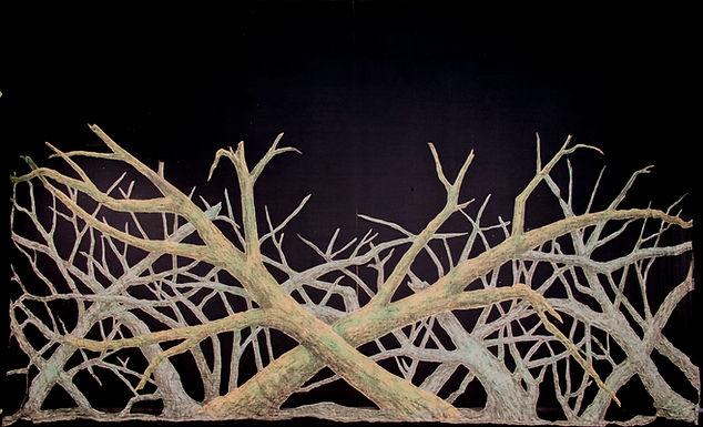 HAUNTED FOREST SCRIM W-APPLIQUES