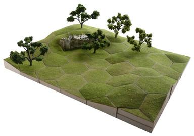 Grassy slopes