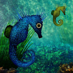 Seahorses are the slowest swimmers in the ocean.