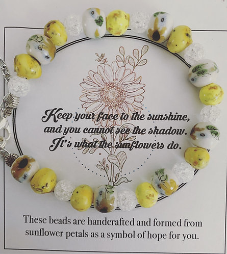 Bloom line: Sunflower inspiration bracelet