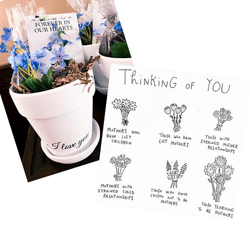 Forever-in-our-heart Forget-me-not Planter