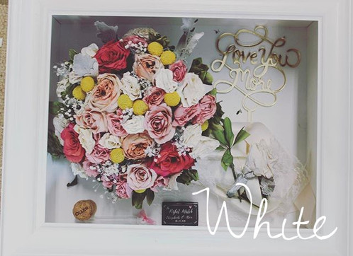Package 4 Regular Frame Floral Preservation In 11x14 Shadow Box