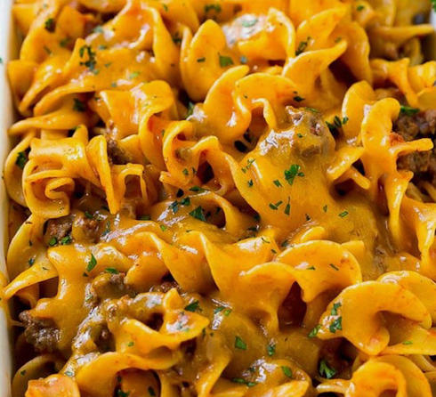 Cheesy Beef & Noodles