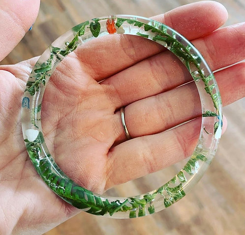 Bangle floral bracelet