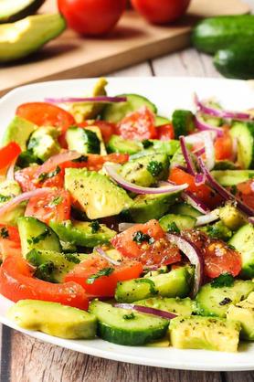 Cucumber Tomato Avacado Salad