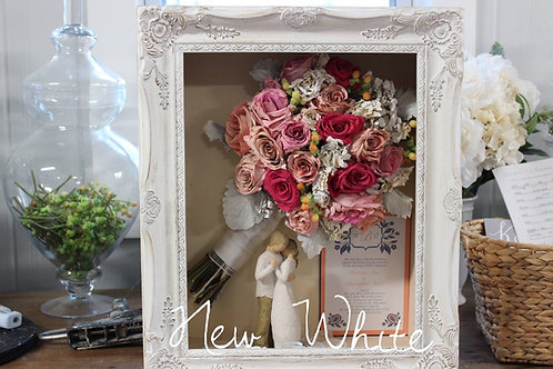 Package 4 (Upgraded Frame) : Floral Preservation in 11x14 Shadow Box