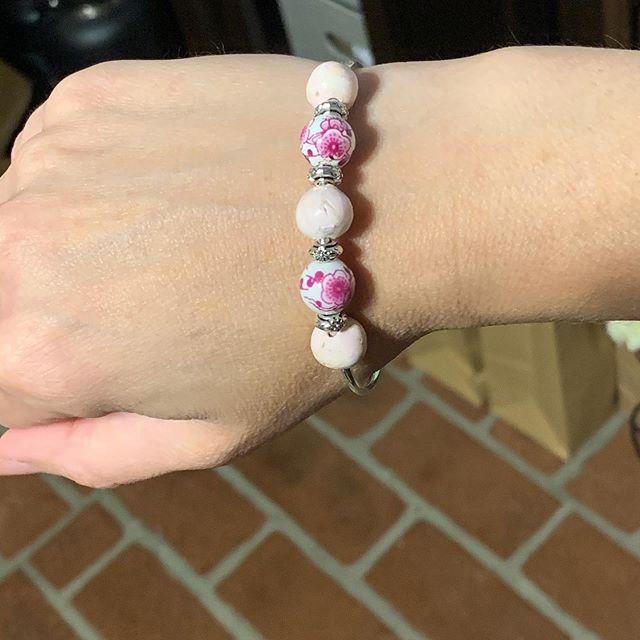 Pink rose petal bracelet!