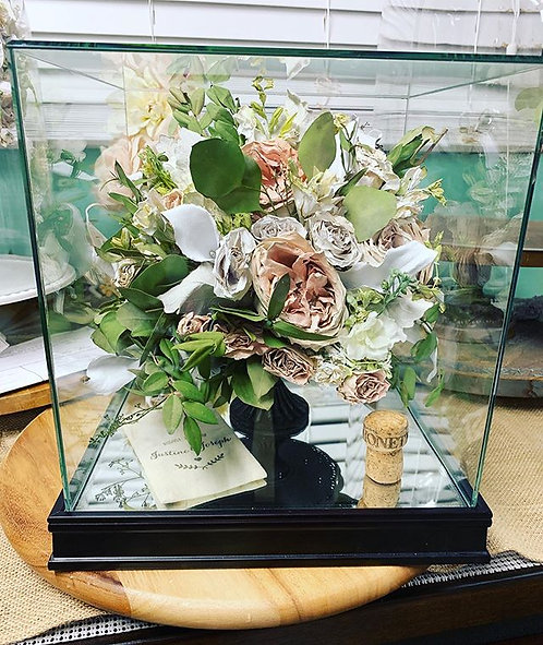 Package 2: Floral Preservation in Glass Display Cube