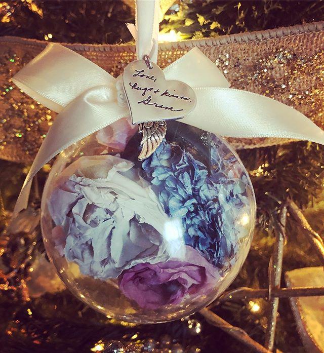 Yay! Ornaments already decorating trees.