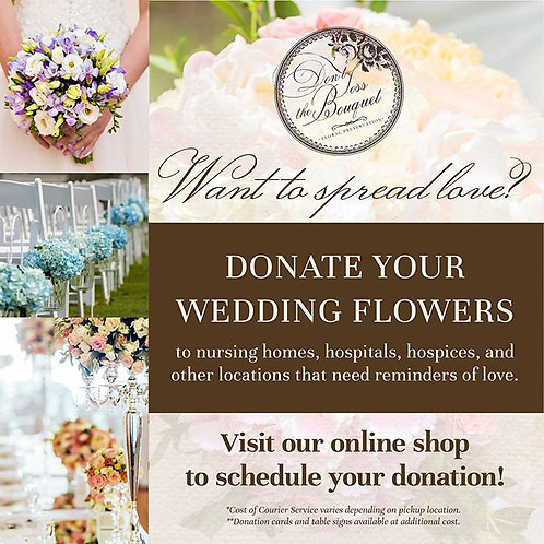 Flower Donation Service + Optional Courier
