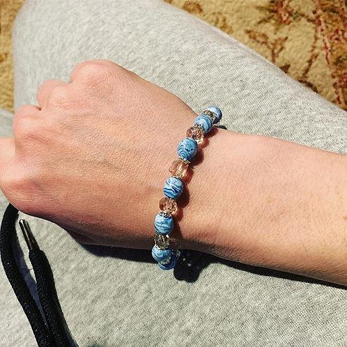 Petal bead bracelets