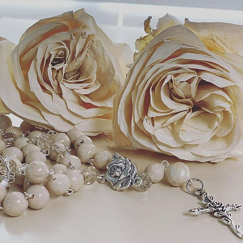 Preserved Floral Rosary