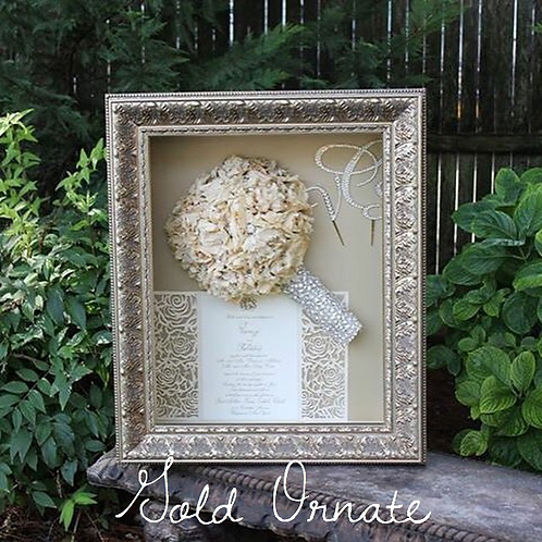 Package 5 (Upgraded Frame): Floral Preservation 16x20 Shadow Box