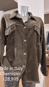 Made in Italy chemisier gris pale