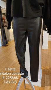 Lisette pantalon cuirette 725668 noir