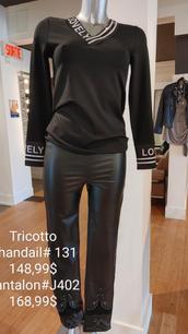 Tricotto chandail et pantalon