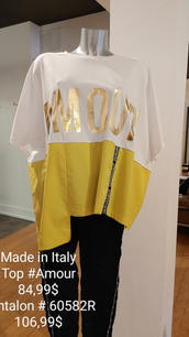 Made in Italy top et pantalon
