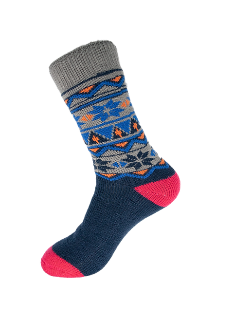 Thermal Insulated Socks -Grey, Blue, Pink