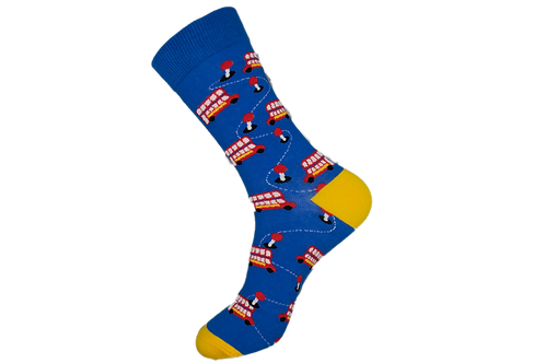 Adults - London Bus Patterned Socks