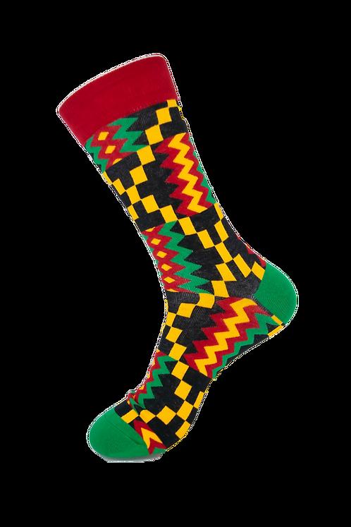 Adults-African Original Kente Cotton Rich Socks