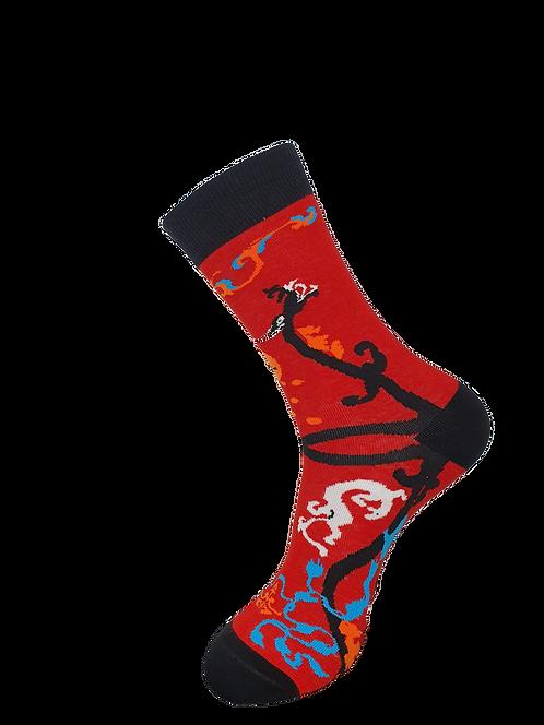 Adult - Chinese Dragon Socks
