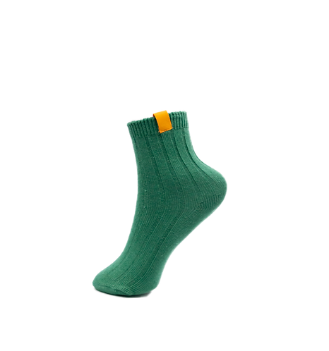 Adults-Emerald Green Cotton Rich Ankle Socks.