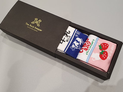 Twin Pack Patterned Socks Gift Box - Haruku Socks