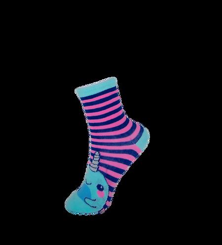 Children's Whale Socks - Striped