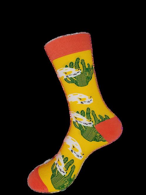 Adults - Cactus Cat Socks